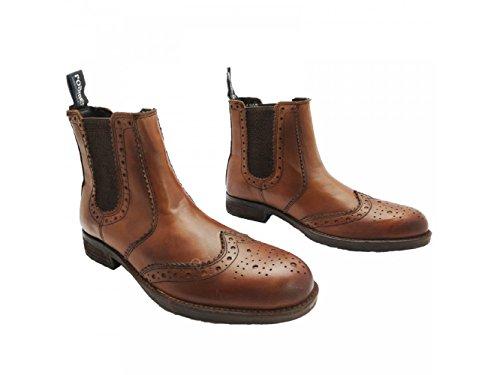 Roamers, Stivali uomo Tan Tan Burnished Softie Leather