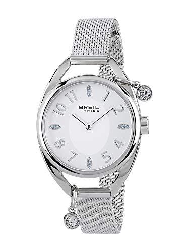 Orologio breil donna trap quadrante mono-colore bianco movimento solo tempo - 2h quarzo e bracciale acciaio ew0355