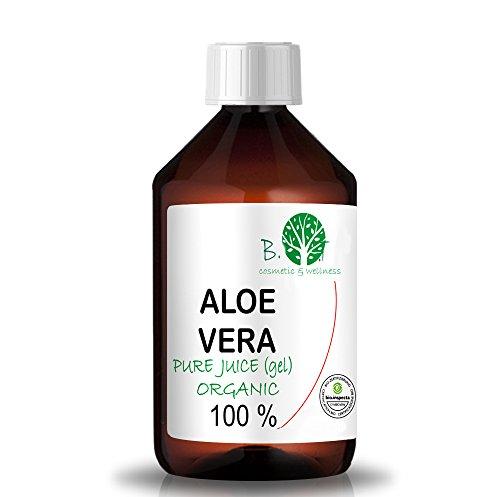 100 prozent pur aloe vera Aloe Vera Gel Bio 100% Biologisch Kontrollierter Anbau - Flüssiger nativer Saft EINFÜHRUNGSANGEBOT - Feuchtigkeitspflege für die Haut - bei Sonnenbrand (500 ml)
