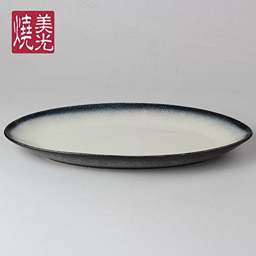 Yuwanw japanese sushi sashimi barca di grandi dimensioni in ceramica vassoio di pesce a base di aragosta piatti di pesce della cucina giapponese È servita nel ristorante, piccola (46,5 x 22,5 cm