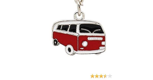 Camper Van Keyring Silver Alloy /& Enamel