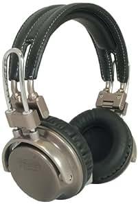 California Headphone Company Over Ear Metal and Leather Headphones - Silverado