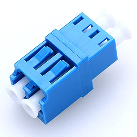 10pcs LC-LC Singlemode Fiber Adapter Connector Duplex