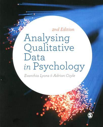 Analysing Qualitative Data in Psychology par Evanthia Lyons
