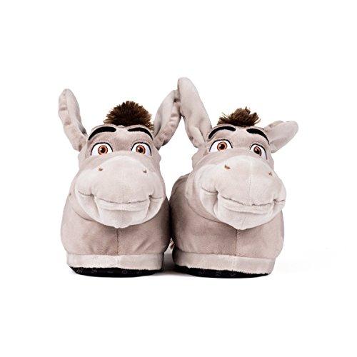 Sleeper'z – Shrek DreamWorks – Zapatillas de casa Burro – XL