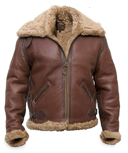 B-6 Redskin Shearling Giacca pilota, Pecora Brown