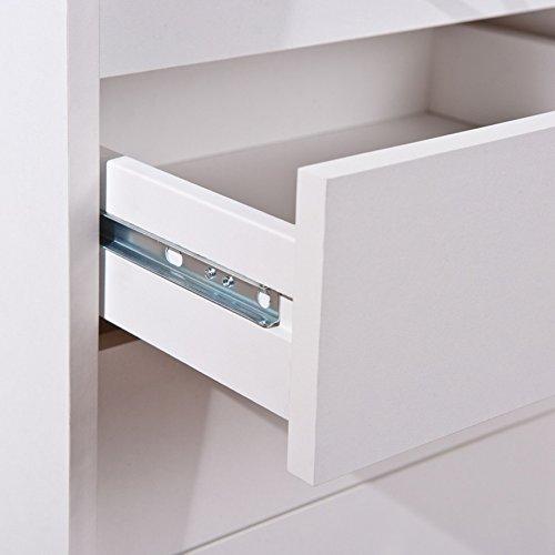 Inter Link 13300100 Rollcontainer Bürocontainer Büromöbel Büro Rollwagen Buche 4 Schubladen weiß NEU - 6
