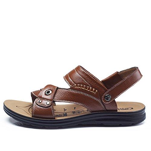 Herrenschuhe/ Männer offene Schuhe/Leder atmungsaktiv Freizeitschuh A