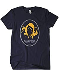 Metal Gear Solid t shirt solid snake Foxhound_Logo_Oval_Navy