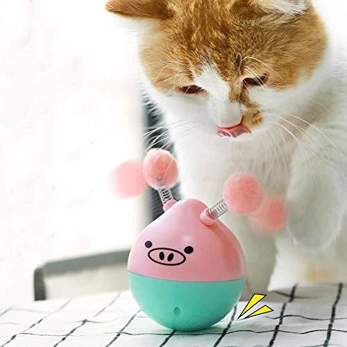 Falliback Tumbler für Katzen, elektrisches Spielzeug, automatisch, lustig, Spielzeug, für Haustiere, Roly-Poly Form eines Schweines, fliegend für Katzen - Poly Körper