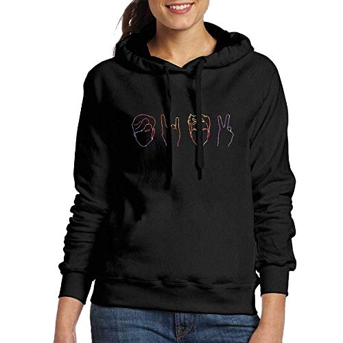 Blue-cashmere Crewneck Pullover (Clothes socks Rianbow Dolan&Twins Logo Women's Hoodie Adult Pullover)
