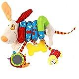 ruiying bebé niños niños, forma en espiral para cochecito de bebé cochecitos de Stoller, asiento de coche cuna colgar juguetes de actividad sonajero perro