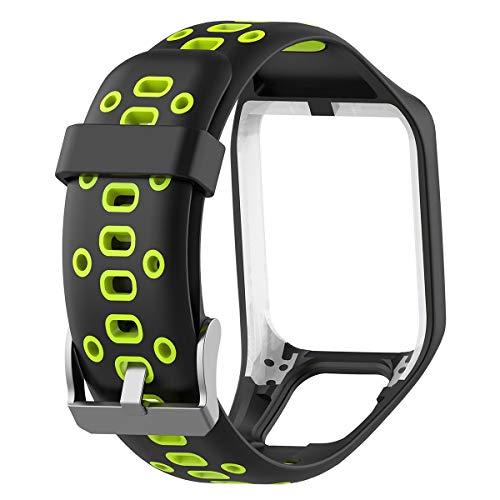 Womdee kompatibel mit der Tomtom Uhr Armband, Ersatz Handschlaufe Premium Silikon Fit Tomtom Runner 2, 3, Spark 3, Golfer 2, Abenteurer für Damen Herren, GPS Smart Watch Zubehör