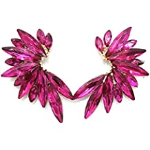 33e4951d843b Pendientes Cristales Colores Mujer Pendientes Fiesta Boda Medio Aro