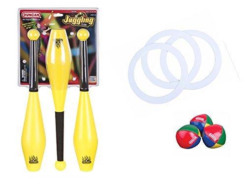 Duncan Juggling Set: Juggling Clubs, Juggling Rings, and Juggling Balls