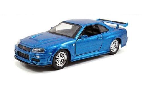 """Preisvergleich Produktbild Brian's Nissan Skyline GT-R R34 Blue """"Fast & Furious"""" Movie 1/32 by Jada 97185 by Nissan"""