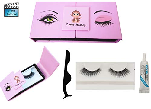 Ciglia finte non magnetiche calamite magneti naturali magnetic eyelashes lashes colla estensione beauty box eyelash glue false lash riutilizzabile 3d naturale kit extension set con applicatore