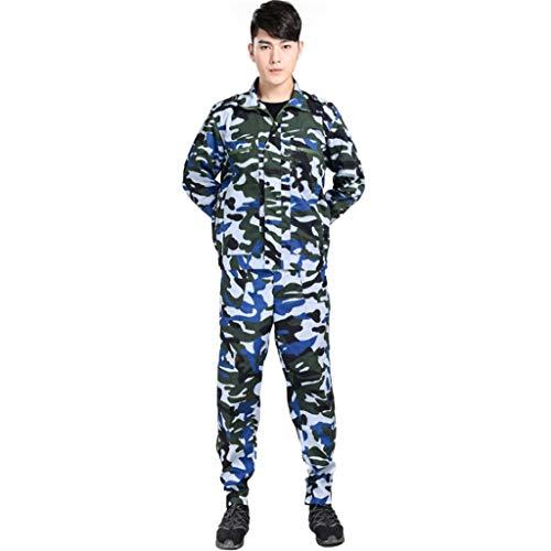 Lilongjiao Costumes de Camouflage entraînement Militaire à Manches Longues Camp d'été Travail en Plein air d'assurance vêtements vêtements d'été et d'automne Formation vêtements