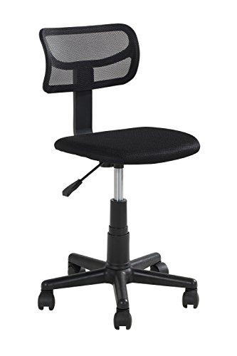 Home4You Bürostuhl Drehstuhl Schreibtischstuhl für Kinder Godo | Mesh | Schwarz | höhenverstellbar