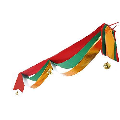 achten Hängende Banner Decke Hängende Dekorationen mit Bell Ball Decke Welle Flag Tuch Bunting Garland Xmas Party Supplies ()