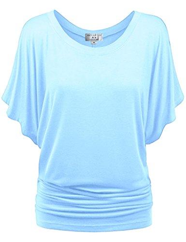 Match Damen T-Shirt Tops #141(141 Licht blau,XX-Large) (Blau Mädchen T-shirt Licht)