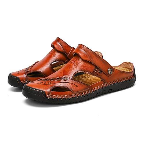 Flip Flops Pantofole Ciabatte da Mare per Spiaggia E Piscina Pantofole in Pelle Pantofole Fatte A Mano Sandali Tagliati Sandali Baotou Sandali in Pelle di Grandi Dimensioni