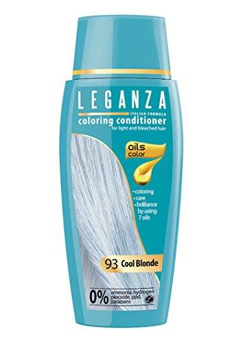 Leganza, teinture baume pour les cheveux sans ammoniaque, couleur blond froid N93, 7 huiles naturelles.