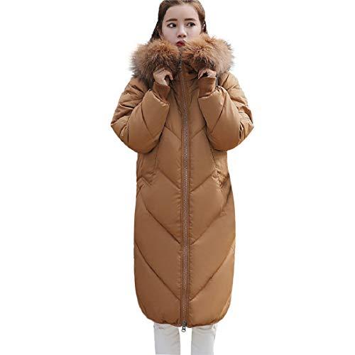 (PAOLIAN Damen Mantel Jacke Daunenjacke Lange Parka Winterjacke mit Kapuze Oberbekleidung Jacken Baumwolle Mantel)
