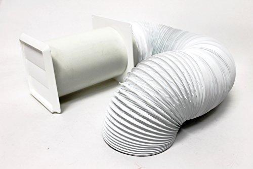 12,7cm 125mm Wand-Kit Komplett mit 6m 12,7cm Abluftschlauch von sparegetti®