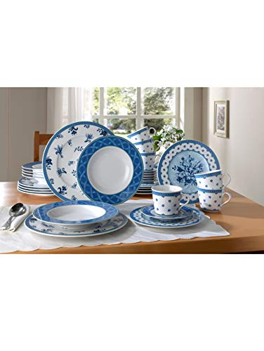 Creatable Unisex 18tlg. Kaffeeservice 'Country Blue' by