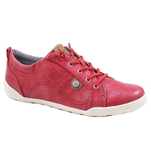 MUSTANG 1314-302 Schuhe Damen Schnürschuhe Sneaker Slipper, Schuhgröße:38 EU, Farbe:Rot