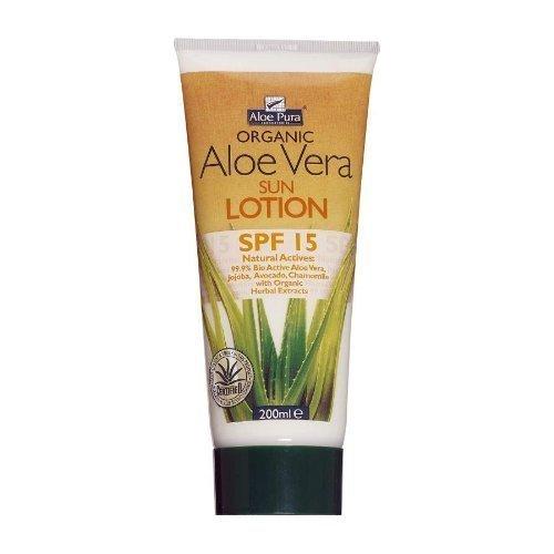 Aloe Pura Aloe Vera Sun Lotion SPF 15 200ml (Pack of 3)