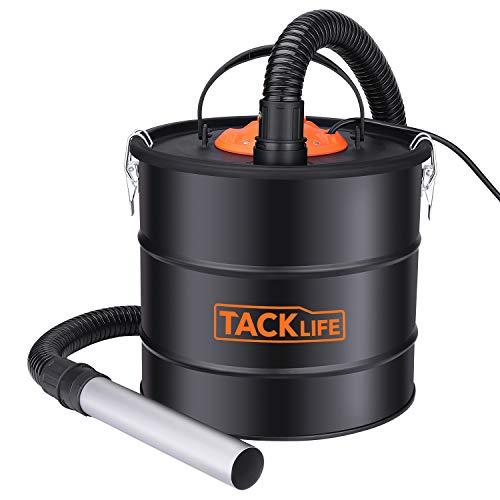TACKLIFE Aschesauger, Kaminsauger 800W mit metallverstärkter Saugschlauch und DUAL Filter System, 18L Behältervolumen, Ideal für Reinigung von Kamin, Grill und Pelletofen