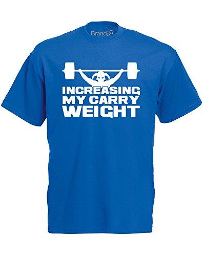 Brand88 - Brand88 - Increasing My Carry Weight, Mann Gedruckt T-Shirt Königsblau/Weiß