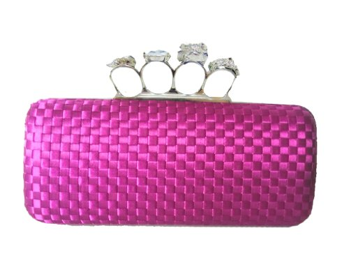 Design Bag Lila Clutch Box Knuckles Aimerfeel Seide durch Schöne AwqE6xPEH