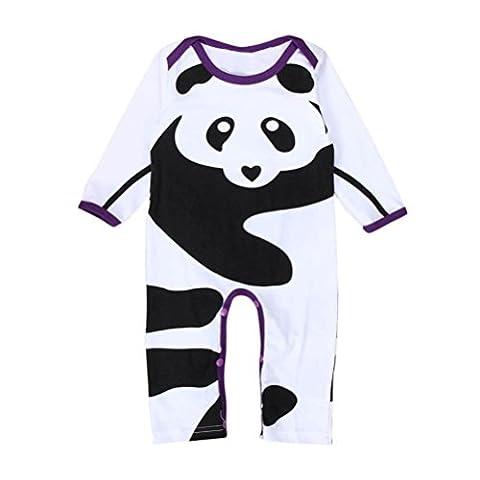 Bluestercool Romper Bébés garçons filles Panda Imprimer manches longues Tenues