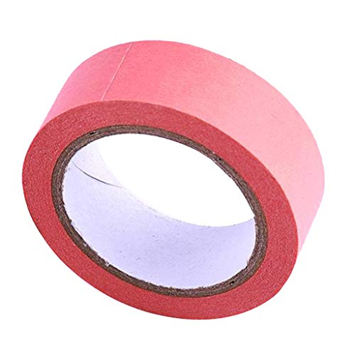 Baoblaze Papier Kreppband Malerkrepp Klebeband Masking Tape Papierband zum Basteln - Rosa -