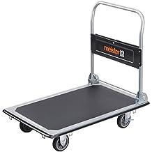 Meister 8985540 - Plataforma de carga plegable, negro y plateado