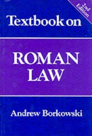 Textbook on Roman Law by Andrew Borkowski (1997-06-01)