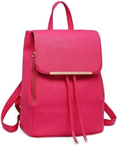 JSPM PU Leather Backpack School Bag Student Backpack Women Travel bag Tuition Bag Backpack (Premium Pink SP-0189) Image 2