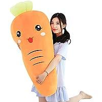 Desconocido Estatuilla de Zanahoria Creativa, Almohada de expresión Zanahoria, muñeca de Juguete de algodón, Regalo de cumpleaños Chica,A,60cm FG