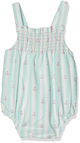 Hatley Baby-Mädchen Spieler Strappy Romper Blue (Anchors), 74 (Kreide-streifen-hose)
