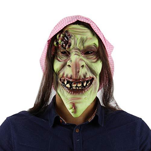 Halloween Latex Maske Beängstigend Märchen Grün Gesicht Alte Hexe 3D Neuheit Gruselig Teufel Kostüm Partei Cosplay Requisiten Rollenspiel Spielzeug