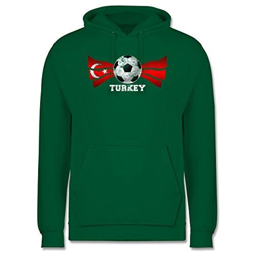 EM 2016 - Frankreich - Turkey Fußball Vintage - Männer Premium Kapuzenpullover / Hoodie Grün