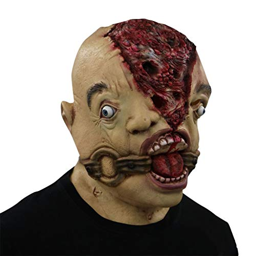 GXDHOME Latex Kopf Maske, Resident Evil Halloween Horror Rot Verfall Ghost Zombie Kostüm Scary Teufel Demon Bloody Creepy Fancy Dress
