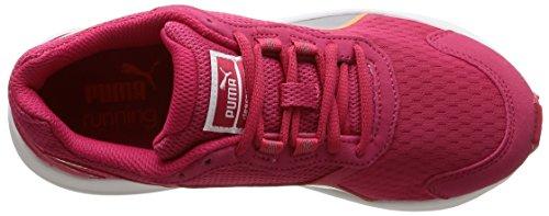 Puma Descendant v3 Wn - Chaussures de Running - Femme Rouge (Rose Red/Puma Silver/Fluo Peach)
