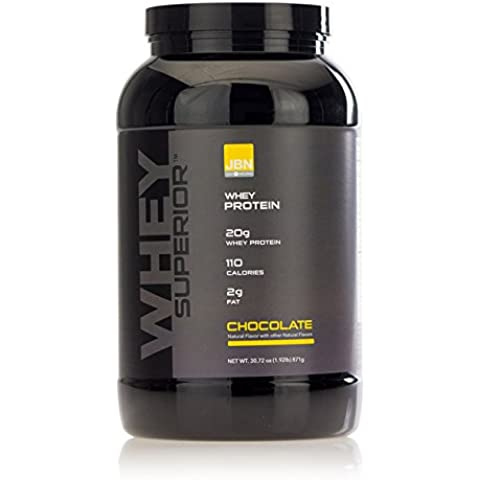 Whey Protein Powder. 20 grams of Whey Superior Protein per Serving, 30 servings, Delicious Chocolate flavor, Made in the USA. Mixes instantly. No Clumps. FREE Sample with order by