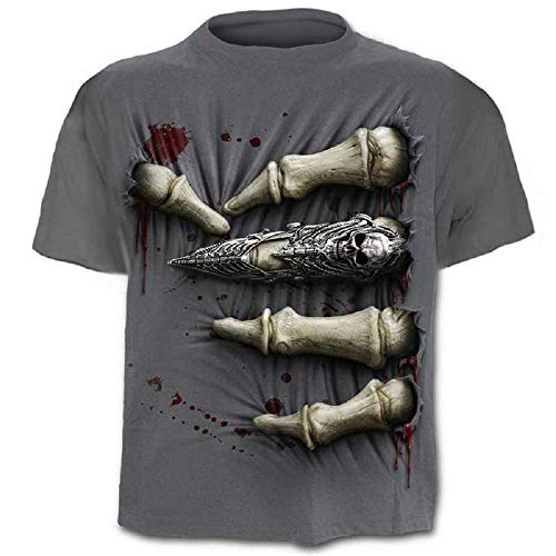 Shirt - Hemd - Trikot - 3D - Kurze Ärmel - Männer - Frauen - Unisex - Lustig - Geschenkidee - Zubehör - Cosplay - Maskerade - Schädel - Rock - Metal - Musik - Gotik ()
