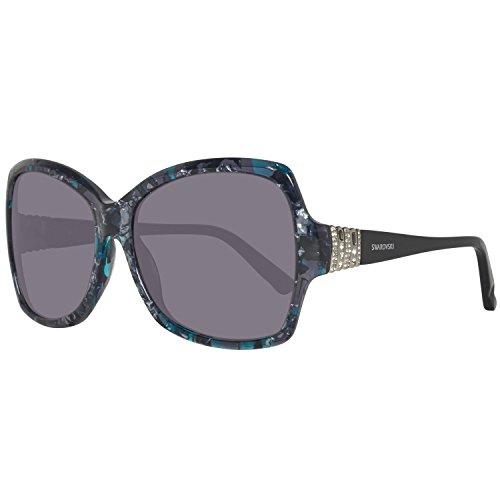 Swarovski sk0113-5855b, occhiali da sole donna, multicolore (coloured havana), 58