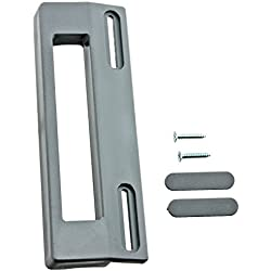 spares2go Poignée de porte pour réfrigérateur congélateur Whirlpool (190mm, gris/argent)